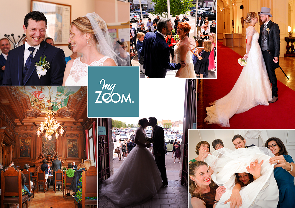 Collage d'exemples de photos de Mariage de Myzoom